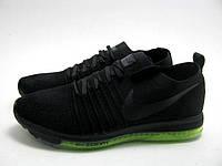 Мужские кроссовки Nike Zoom All Out Flynit Black-green (найк мужские беговые кроссовки)