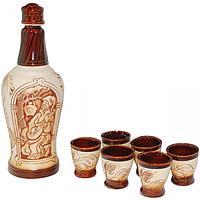 50101 Набор винный Гетьман (бутылка0.9л, стакан150мл)