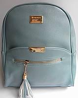 Новинка! Женский кожаный рюкзак WANYU бирюза, фото 1