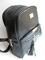 Новинка! Женский кожаный рюкзак WANYU черный