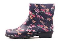 Классические женские сапоги с цветочным принтом 20143