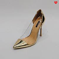 Женские модельные туфли силиконовые вставки