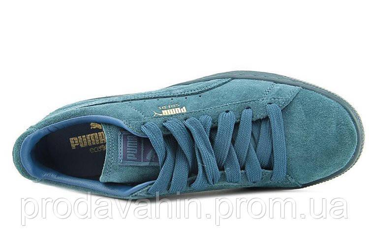 Кроссовки мужские Puma Suede Classic Mono Iced Sea Blue. Пума суед ... 3133c7dd07ebe