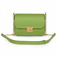 Женская кожаная сумка через плечо Katerina Fox зеленого (greenery) цвета из натуральной кожи (KF-918)