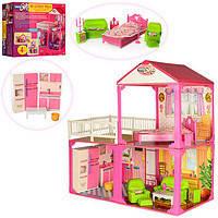 Игрушечный кукольный домик 6982В с мебелью КК