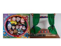 """Кукольный театр """"Три поросенка""""и набор сказочных персонажей  с настольной ширмой (7128-24)"""