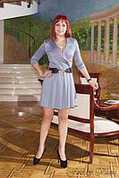 Платье с юбкой в тонкую складку 390