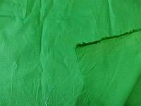 Поплин - стрейч (зеленый) (арт. 12215) отрезы 1,13 + 1,07 м