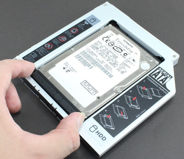 Как подключить второй жесткий диск к ноутбуку?