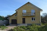 Дом из кирпича керамического под шубой