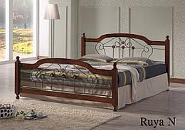 Кровать двуспальная металл и дерево Руя (Ruya) N Onder Metal 180×200