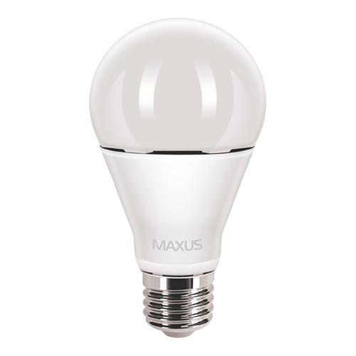 Лампа MAXUS A65 12W 3000K 220V E27 AL