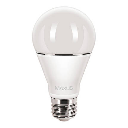 Лампа MAXUS A65 12W 3000K 220V E27 AL, фото 2