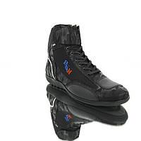 Мотоботинки RSM StreetFighter Нубук, Черный, 40, фото 1