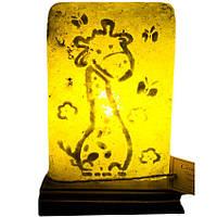 """Соляной светильник """"Жирафик"""" (3,5 кг) """"Планета соли"""""""