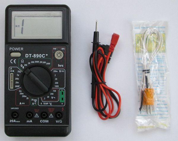 Цифровой мультиметр Dt-890C+