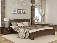 Кровать деревянная Венеция Люкс Эстелла 80×200 Буковый щит 101 - Орех темный