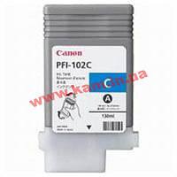 Картридж Canon PFI-102C (cyan) iPF500/ 600/ 700 (0896B001)