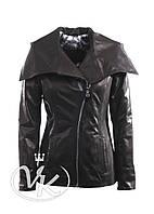 Кожаная куртка с капюшоном (размер М), фото 1