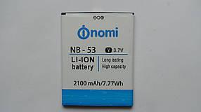 Аккумулятор  (АКБ, батарея) Nomi i502 Drive (NB-53), оригинал!