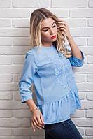 Молодежная модная летняя блуза-кофточка с вышивкой 42,44,46