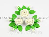 """Квіти з мастики - Набір """"білі Троянди"""""""