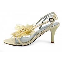 Босоножки женские на каблуке, классика «Delicate flower», Бежевый, 40 , фото 1