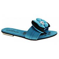 Шлепанцы женские голубые Amore, Голубой, 38, фото 1