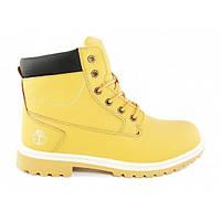 Ботинки мужские зимние кожаные на меху Timberland Classic Yellow, Желтый, 46