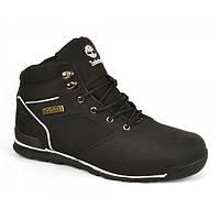 Ботинки мужские зимние кожа Timberland Power Design Black на меху, Черный, 44