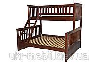 Двухъярусная кровать трансформер из массива дерева Рим