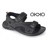 Сандалии мужские кожаные черные OKKO «Halk», Турция, Черный, 42 , фото 1