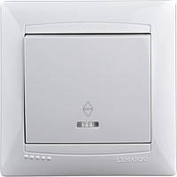 Выключатель 1-й проходной + LED подсветка  LEMANSO
