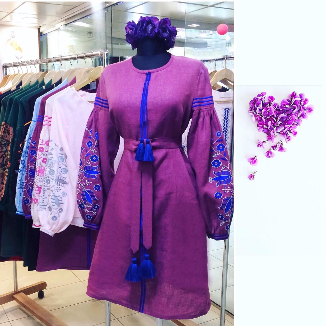 Платье цвет года вышивка дерево - Ексклюзивні Вишиванки  502291accd122