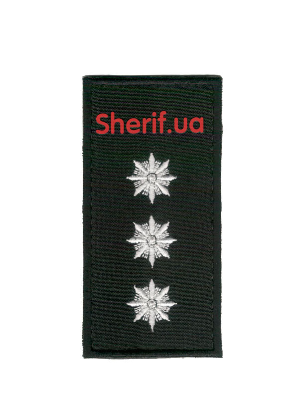 Погон Старший лейтенант полиции на липучке (1шт)  10352  - Военторг Шериф в Днепре