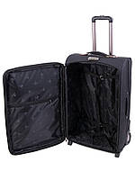 Большой чемодан черный