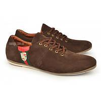Туфли мужские велюр (хромовая замша) коричневые Porshe Design Украина, Коричневый, 45 , фото 1