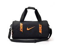 Спортивная сумка Nike черная с коричневым логотипом