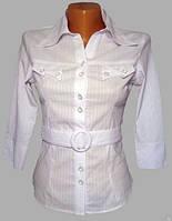 Блуза женская для официанток и сферы обслуживания, рубашка