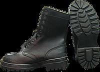 Ботинки с высокими берцами юфть/кирза