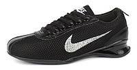 Кроссовки кожа и сетка Nike черные Индонезия, Черный, 39 , фото 1