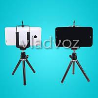 Штатив трипод, держатель для iphone, смартфона, камеры, фотоаппарата черный