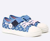 Детские кеды для девочки джинс синие