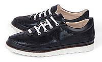 Туфли женские черные на шнуровке Glam на белой подошве, Черный, 36 , фото 1