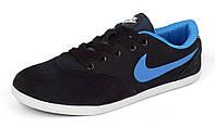 Кроссовки женские замшевые темно-синие Nike Zoom, Синий, 36 , фото 1