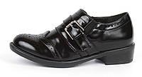 Туфли женские черные лакированные закрытые на каблуке Agata, Черный, 36 , фото 1