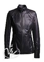 Черная кожаная куртка удлиненная