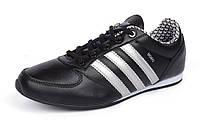 Кроссовки кожаные черные с белым Adidas Midiru Индонезия, Черный, 36 , фото 1