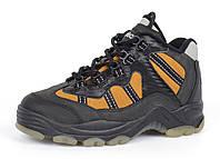 Термо ботинки на мальчика кожаные черные с желтым ТМ Jela Германия, Желтый, 33 , фото 1