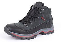 Ботинки зимние кожаные на меху Ecco Gore-tex черные, Черный, 32